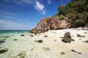 Khai Island is located in Tarutao National Park Satun