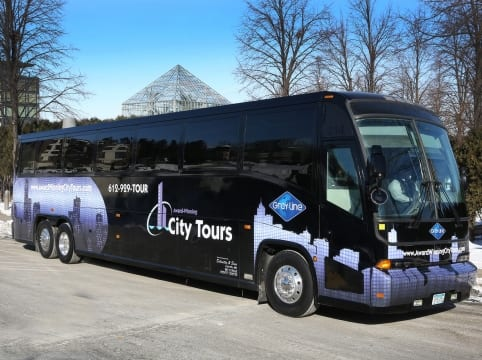 award-winning city tours bus