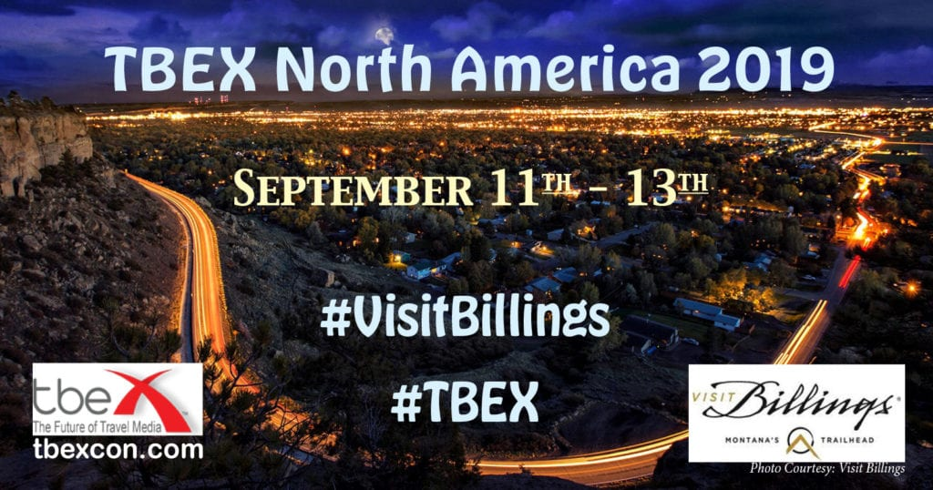 TBEX North America 2019 in Billings, Montana