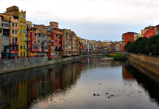 houses along the river in Girona, Costa Brava