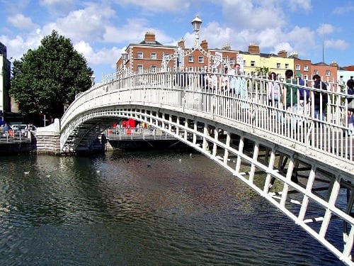 Half Penny Bridge in Dublin, Ireland