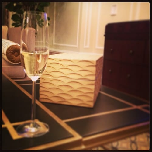Champagne in a Caesars suite - photo by Jessica Spiegel