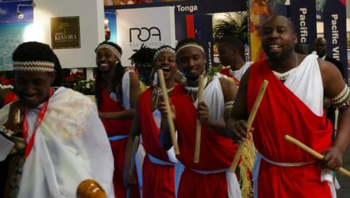 Dancers at ITB Berlin - photo by Yvonne Zagermann, used with permission