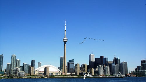 Toronto skyline - by Ken Doerr on Flickr
