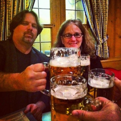 Rick & Mary Jo toast to a successful ITB conference in Berlin
