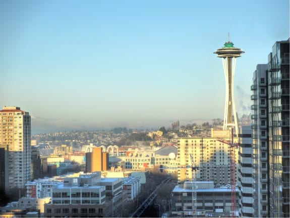 Seattle view of space needle