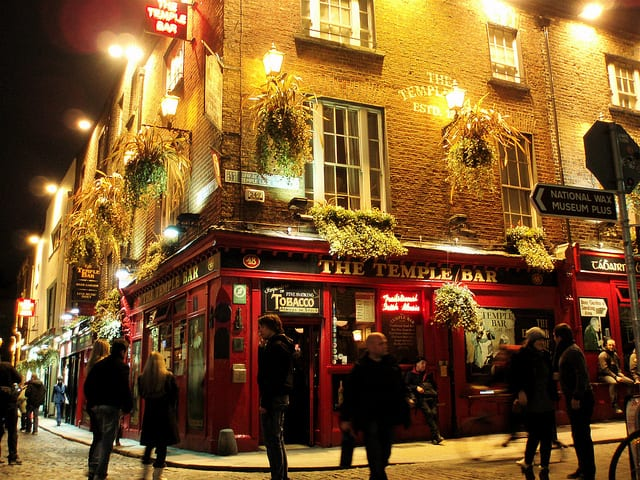 Temple Bar in Dublin. photo by M. King