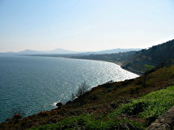 Dublin Bay and the Wicklow Mountains shot from Dalkey