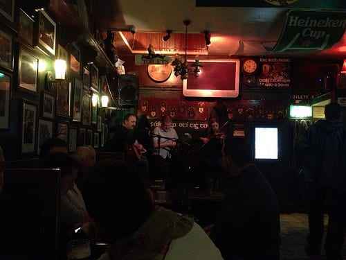 Traditional music in an Irish pub. Creative commons photo by KHoffmanDC.