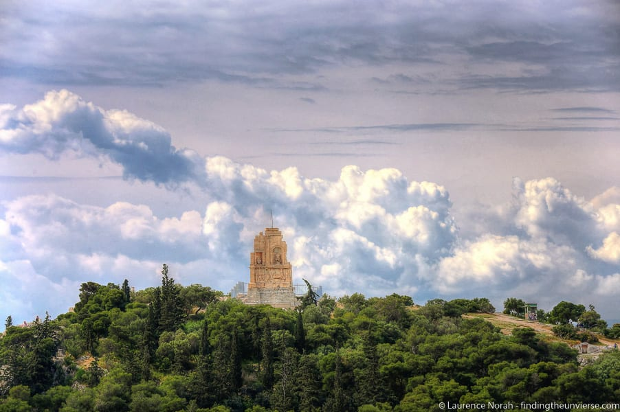 Athens cloud and temple