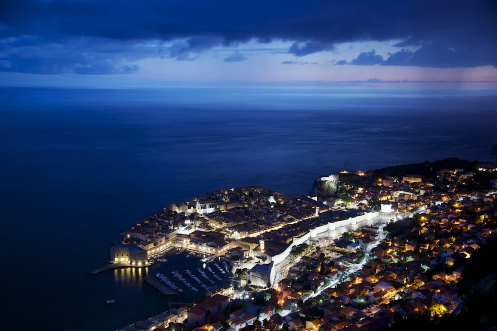 Establishing Shots - Dubrovnik from Above at Blue Hour - Dubrovnik, Croatia