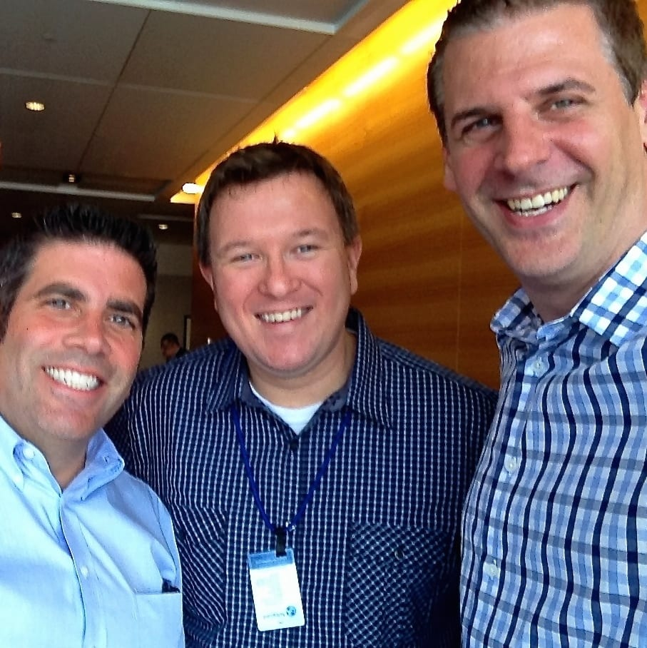 Lou Mongello from WDW Radio, Jared Easley from Starve the Doubts and Founder of Podcast Movement Conference, and Shawn Smith, The Mobile Pro at #PM14.