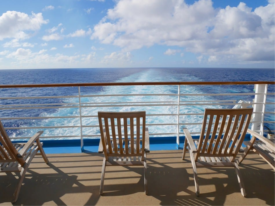 Deck chairs looking aft on Oasis of the Seas