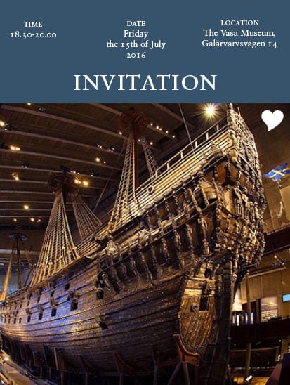 Invitation Vasa museum