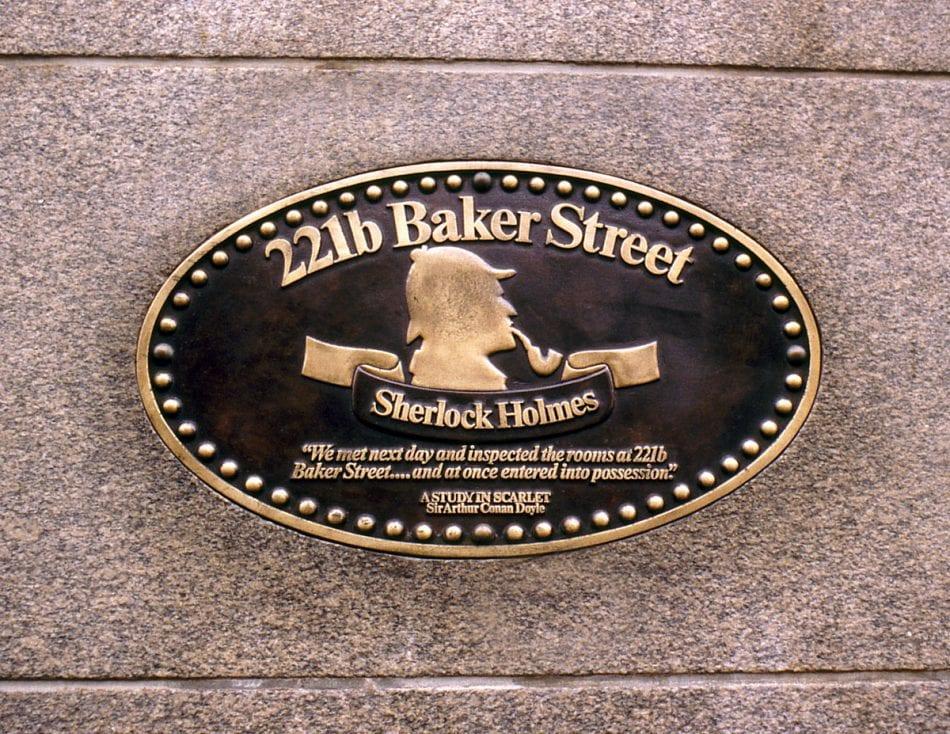 221b Baket Street Plaque