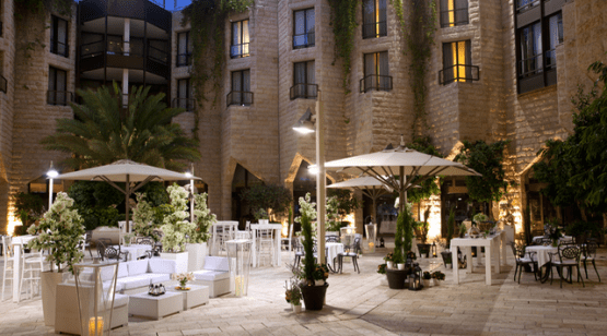 Courtyard at Inbal Hotel Jerusalem