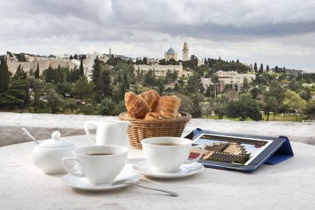 View from the Executive Lounge at the Inbal Jerusalem Hotel