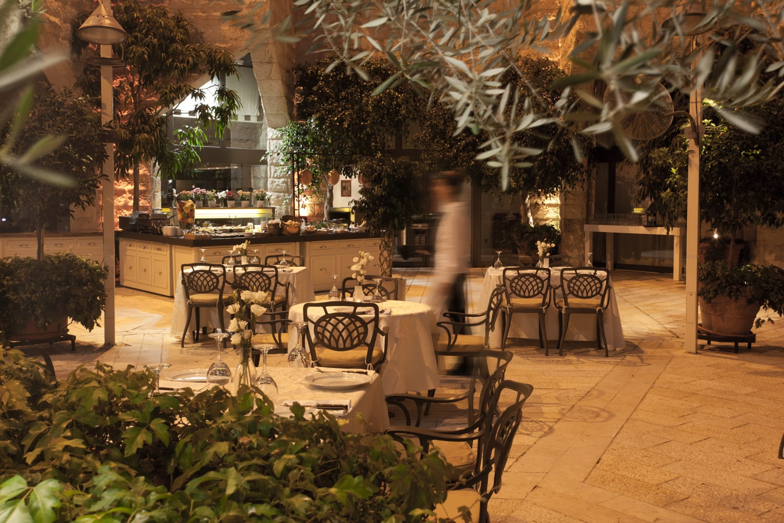 Outdoor grill at Hotel Inbal