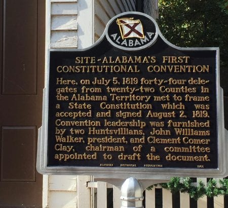 Site of the first Alabama Constitutional Convention