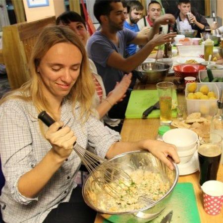 TBEX Hummus Workshop hosted by Abraham Hostel