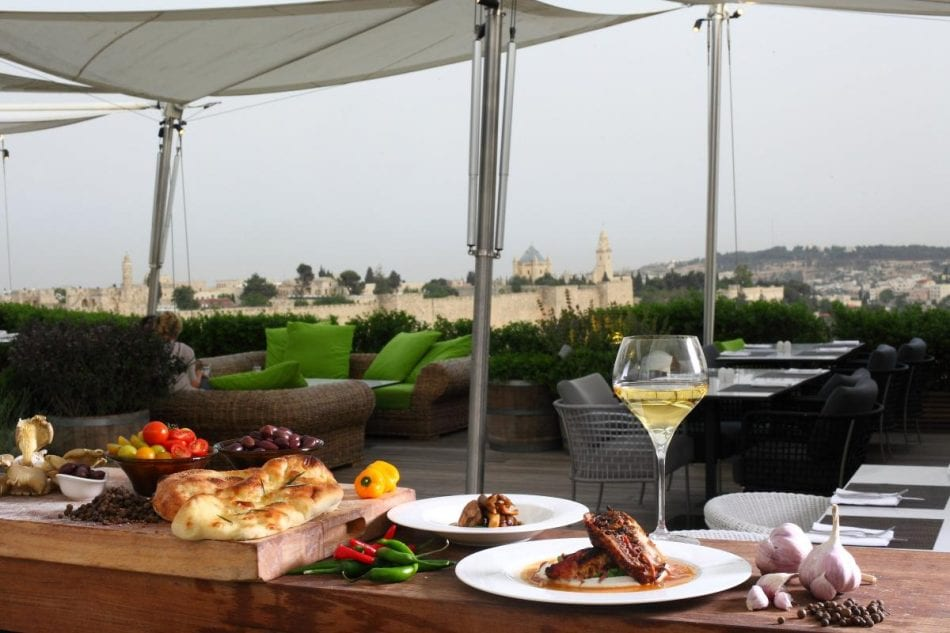 Rooftop at Mamilla Hotel, Jerusalem