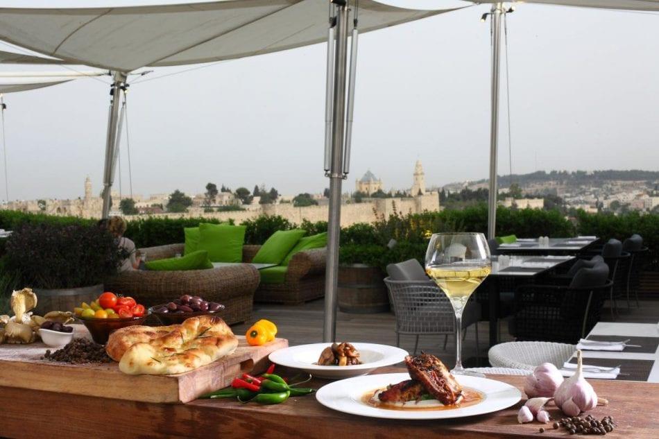 Rooftop at Mamilla Hotel, Jerusalem