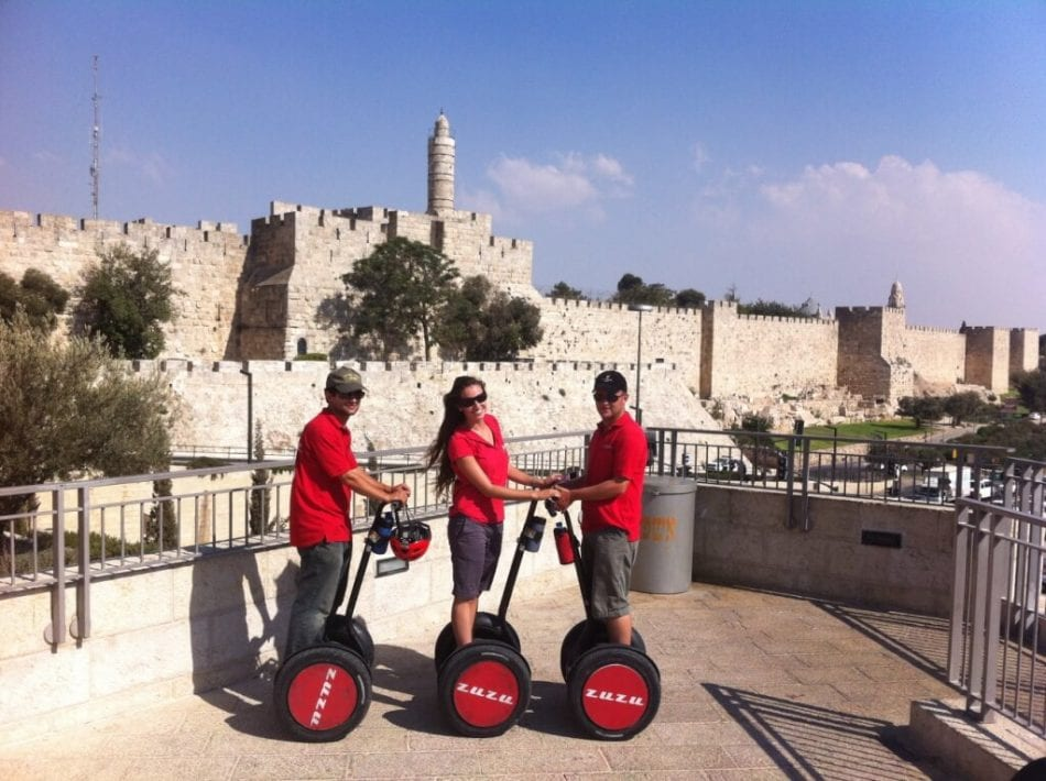 Zuzu Segway at Jaffa Gate, Jerusalem