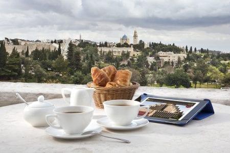 Al Fresco dining at Jerusalem's Inbal Hotel