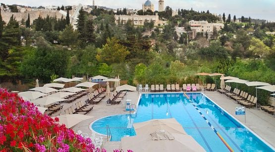 Pool at Inbal Hotel Jerusalem