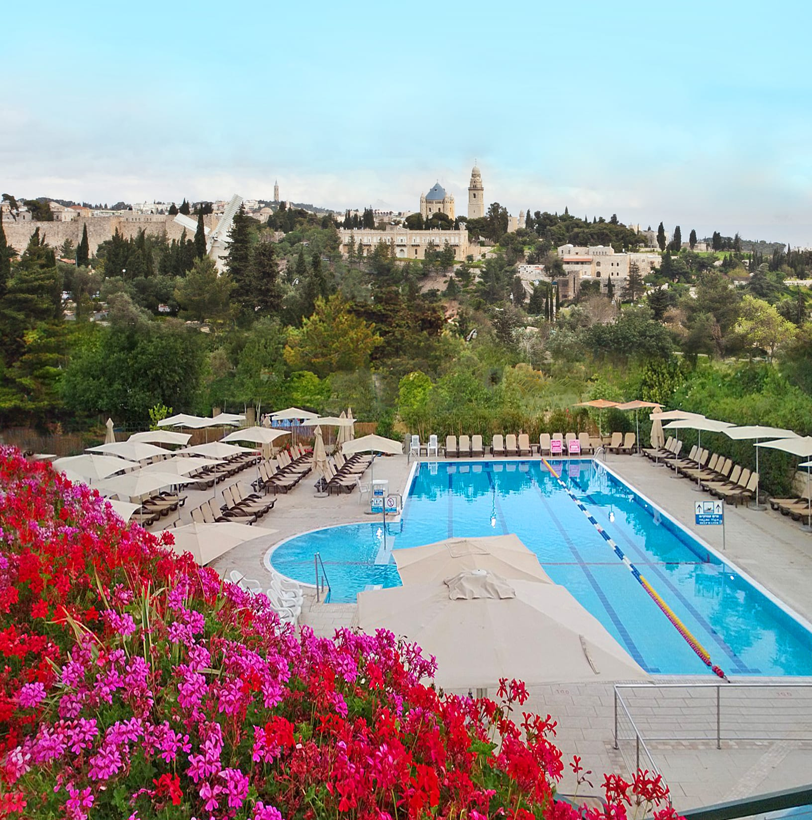 Pool at Inbal Hotel Jerusalem