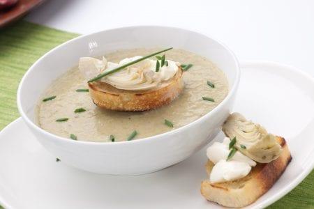 Artichoke & Leek Soup at Inbal Hotel