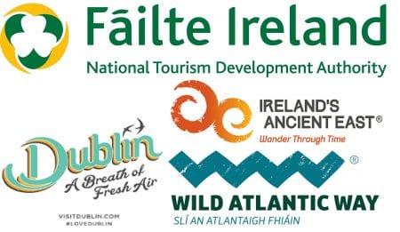 Failte WAW VisitDublin IAE logos