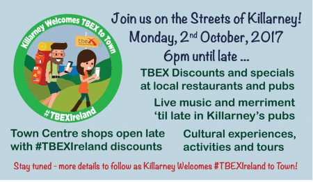Killarney Welcomes TBEX to Town