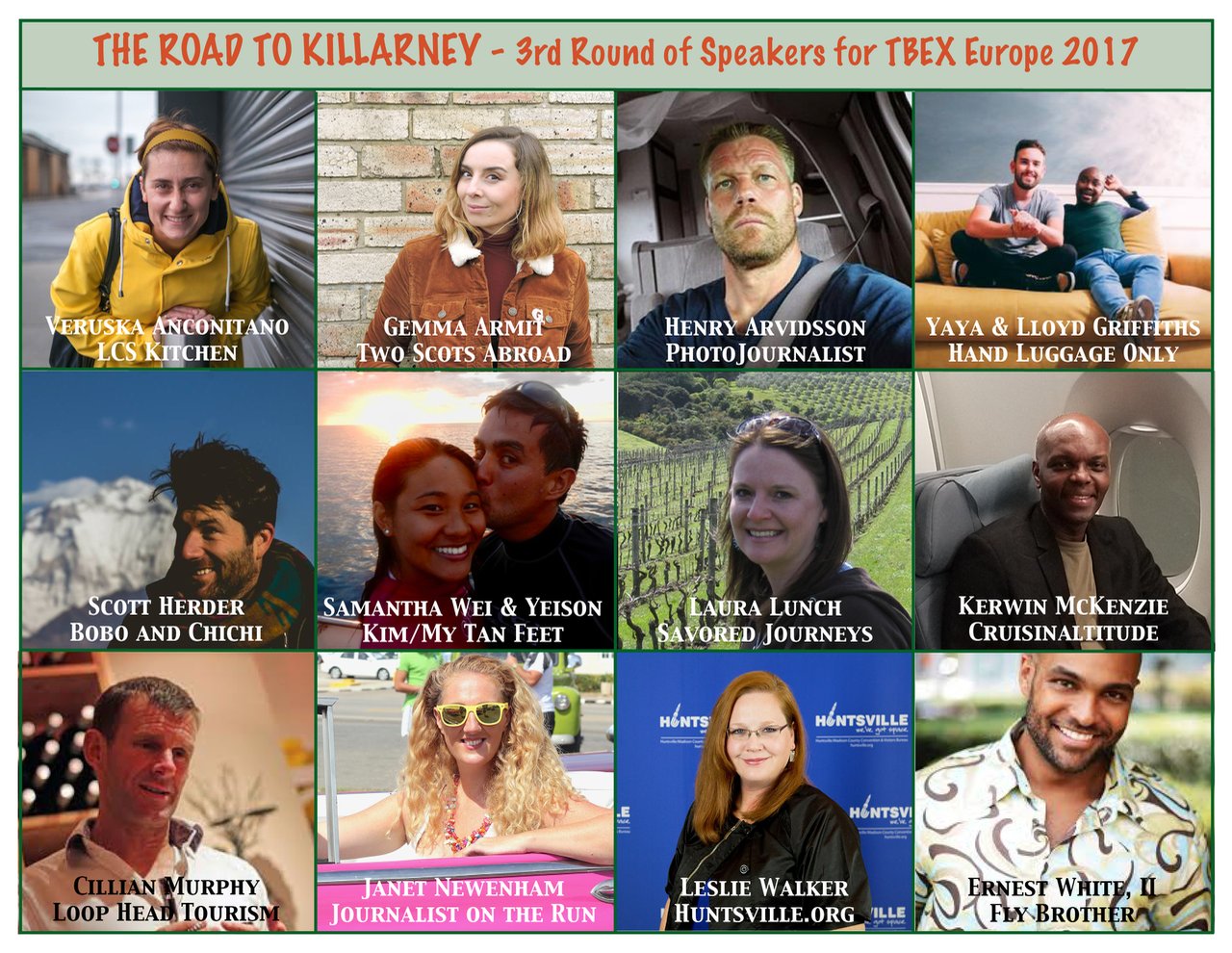 Third Round of Speakers for TBEX Europe 2017