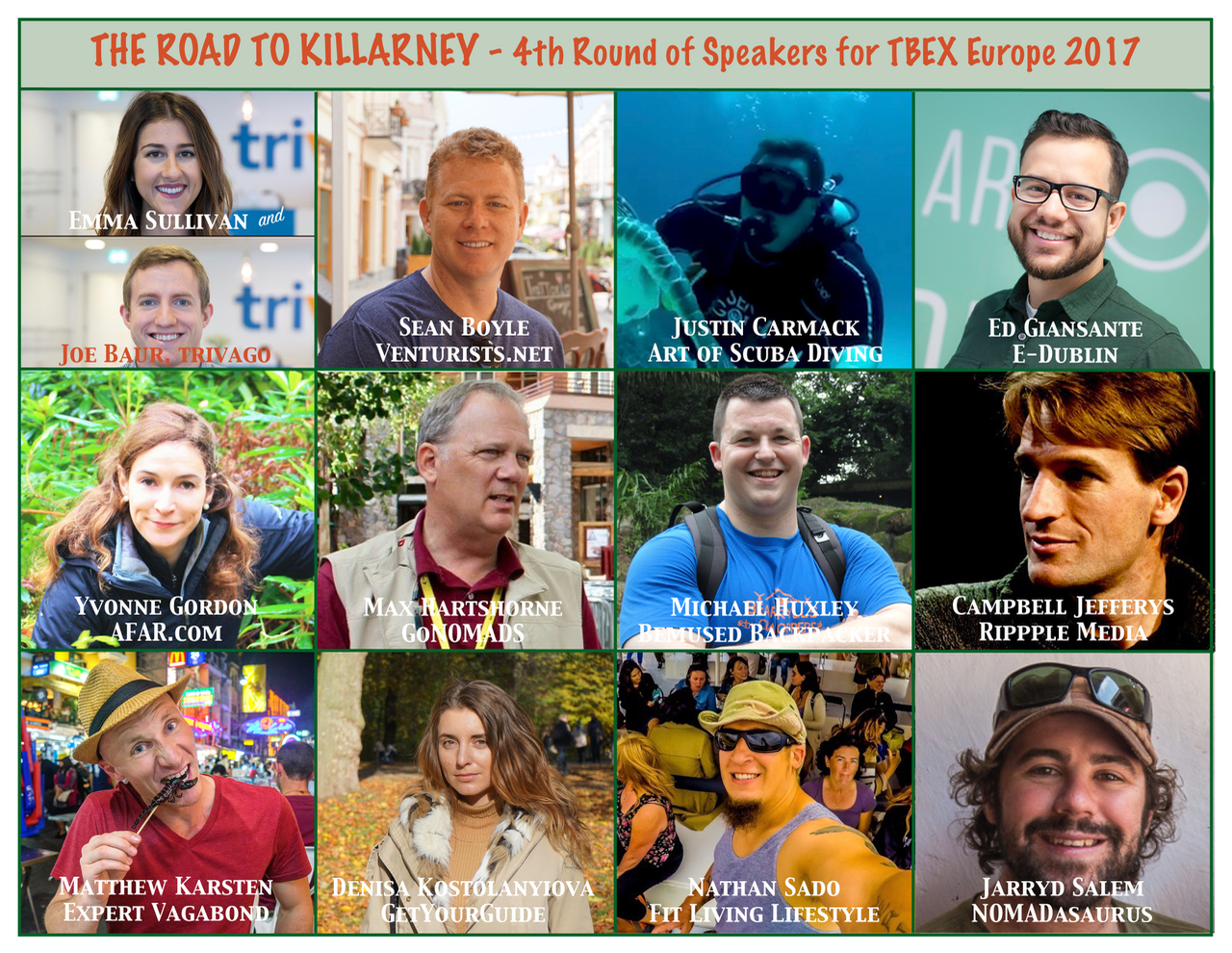 TBEX Europe 2017 4th Round of Speakers