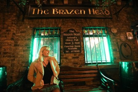 Tara Povey at The Brazen Head Dublin, Oldest Pubs in Ireland