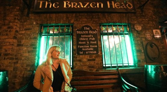Tara Povey at The Brazen Head Dublin, Oldest Pubs in Ireland