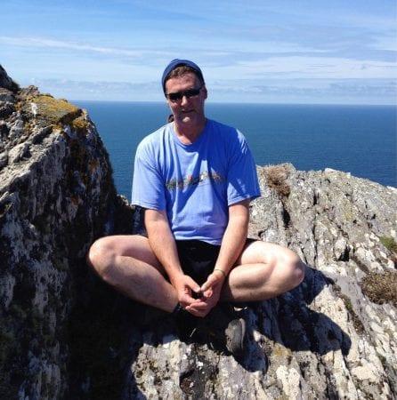 Con Moriarty on Skellig Michael, Wild Atlantic Way