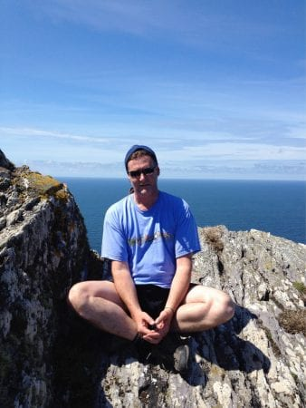 Con Moriarty on Skellig Michael