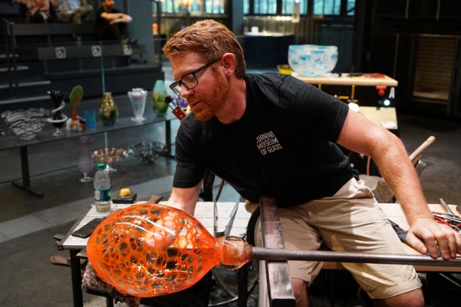 Corning Museum of Glass Hot Glass Demonstration