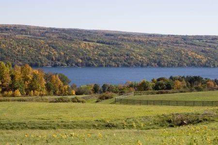 Keuka Lake, in Finger Lakes Wine Country, NY