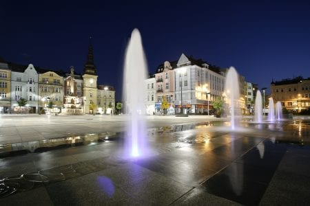 Ostrava, Czech Republic at night