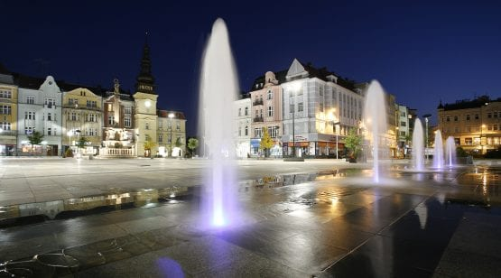 Ostrava, Czech Republic at night