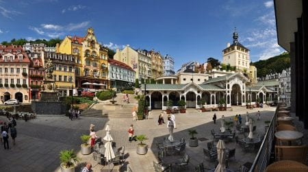 Karlovy Vary in West Bohemia
