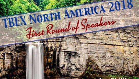 First Round of Speakers TBEX NA 2018