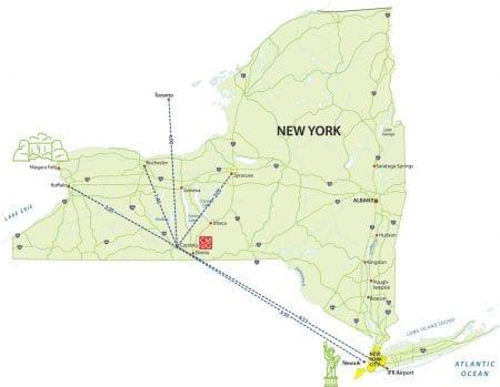 NY Air Transportation Map