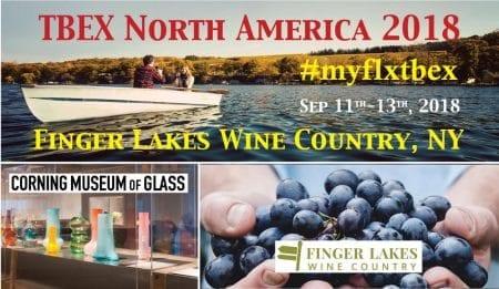 TBEX North America 2018 in Finger Lakes, NY