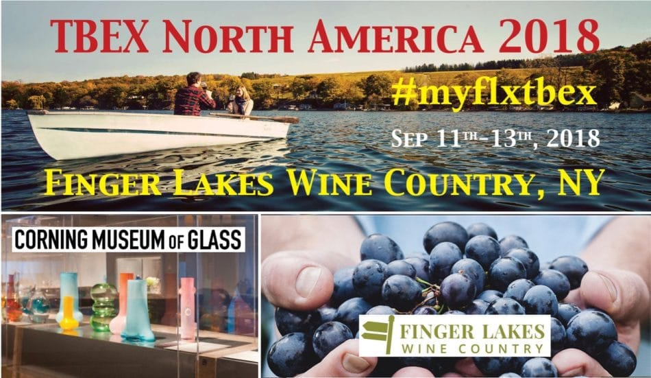 TBEX North America 2018 in Finger Lakes, NY
