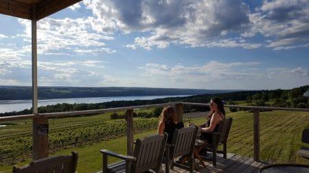 Women sipping wine at Atwater Estate Vineyards
