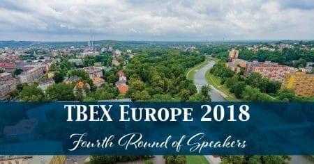 TBEX Europe 2018 Fourth Round of Speakers